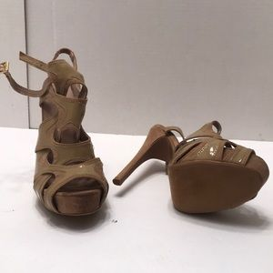 Charlotte Russe strappy tan heels 8